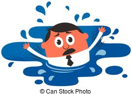 Girl Drowning Clipart Art 2 and Drowning