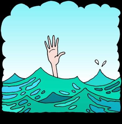 Drown clipart Man Christart Drowning Drowning com