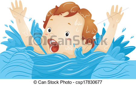 Drowning clipart Drowning Art A Illustration Boy  Vectors