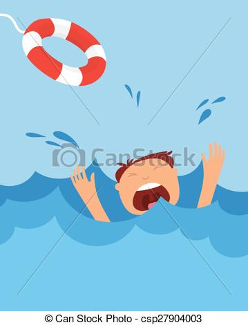 Drowning clipart Drowning Art Screaming of Vector help drowning