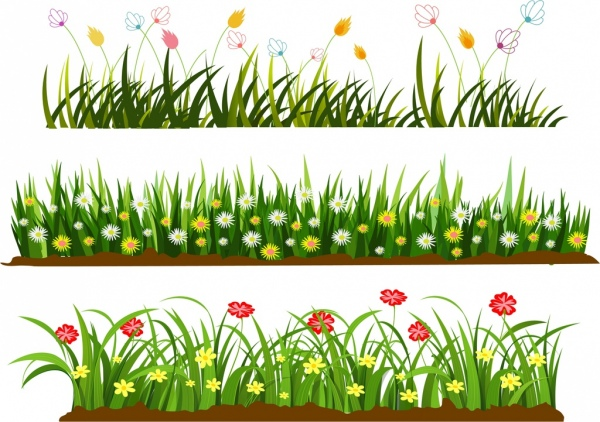 Colouful clipart grass #12