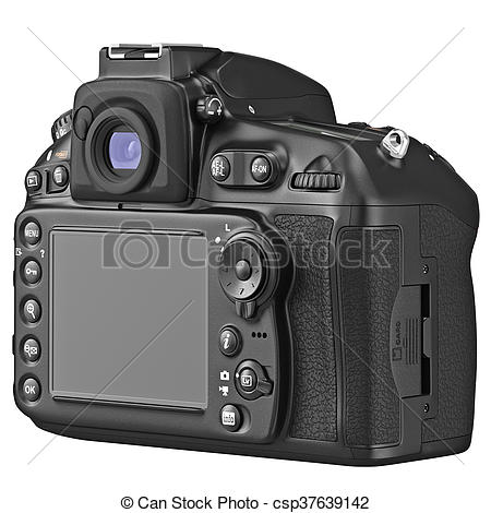 Dslr clipart back Photo graphic view LCD DSLR