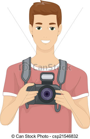 Photography clipart camera man Man and of  Man