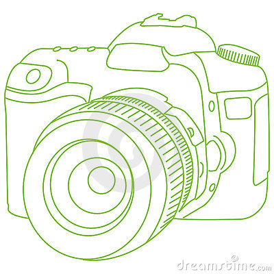 Drawn camera dslr camera For an for outline tattoo?