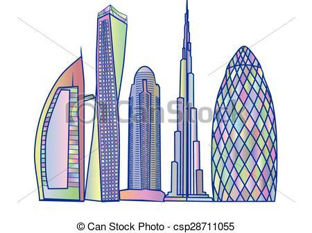 Dubai clipart Dubai on isolated building dubai