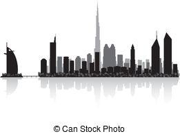 Dubai clipart Vector skyline Emirates Dubai Dubai