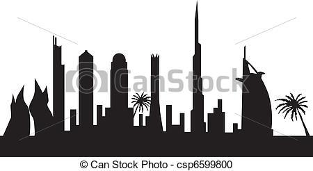 Dubai clipart Dubai csp6599799 dubai sklyline by