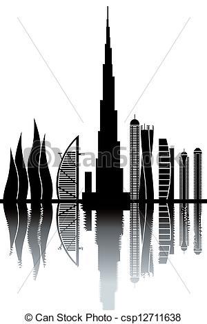 Dubai clipart Illustration Pivot clipart dubai skyline