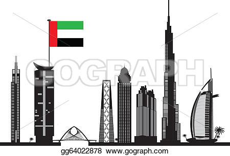 Dubai clipart Clipart skyline Dubai Illustration Illustration