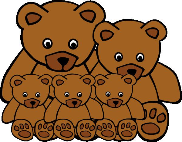 Teddy clipart family #5