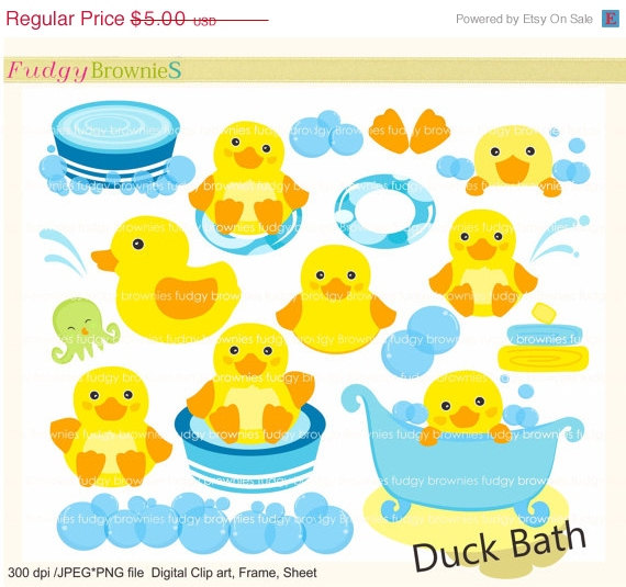 Bubble clipart duck Art invites toy ON SALE