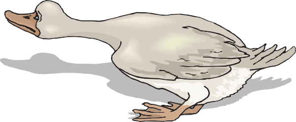 Scary clipart duck #1
