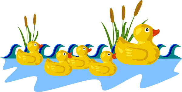 Duckling clipart #7
