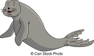 Dugong clipart  dugong on Vector of