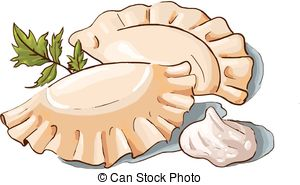 Dumpling clipart  a of Dumpling Illustration