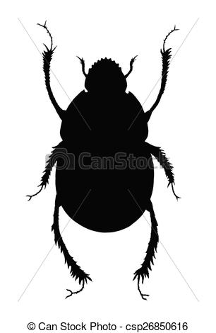 Beatle clipart silhouette Dung Beetle Scarab Scarab beetle