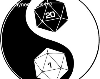 Dungeons & Dragons clipart Dungeons SVG Ying dice and