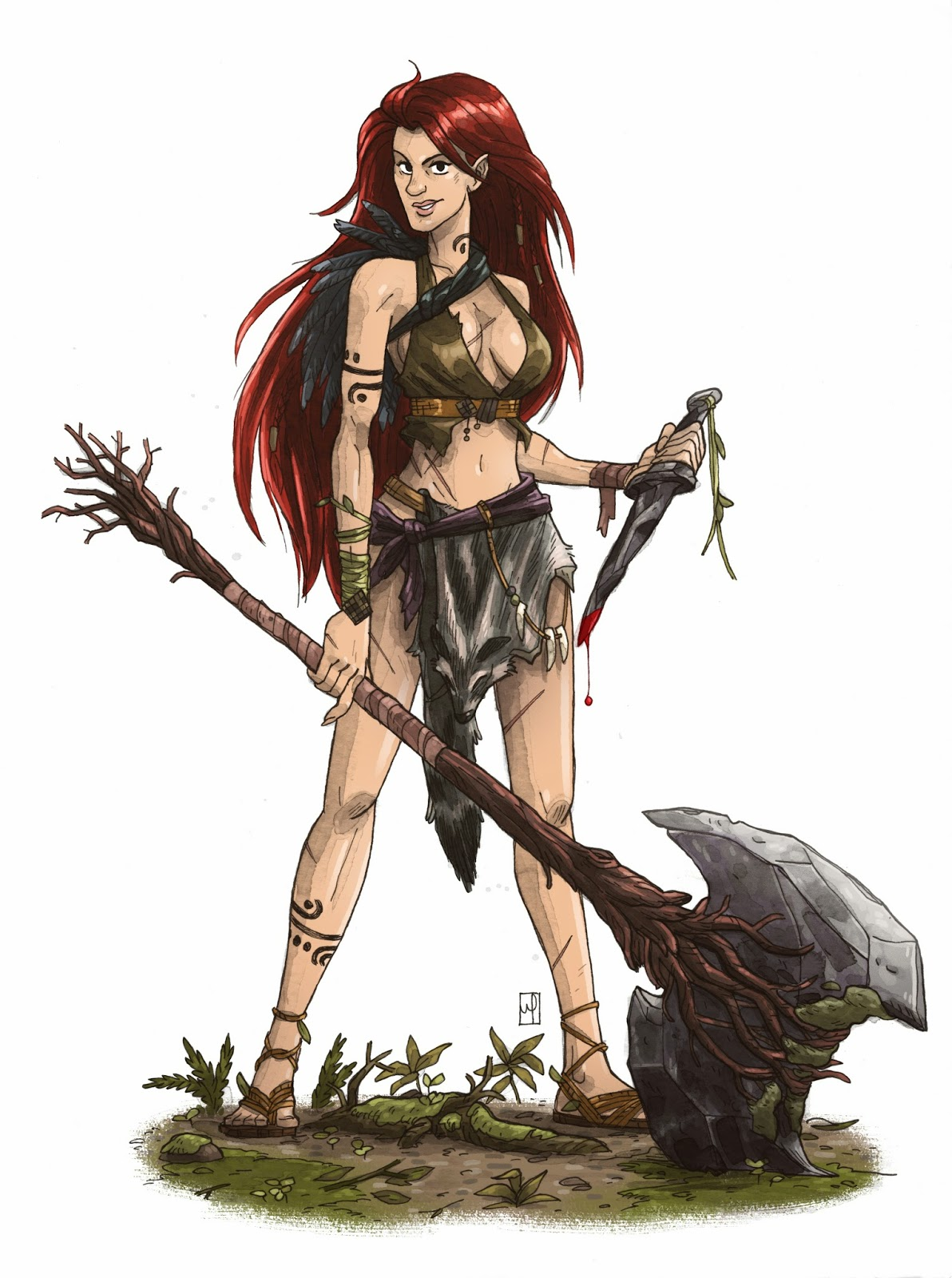 Dungeons & Dragons clipart barbarian female The Pinterest M (Half S