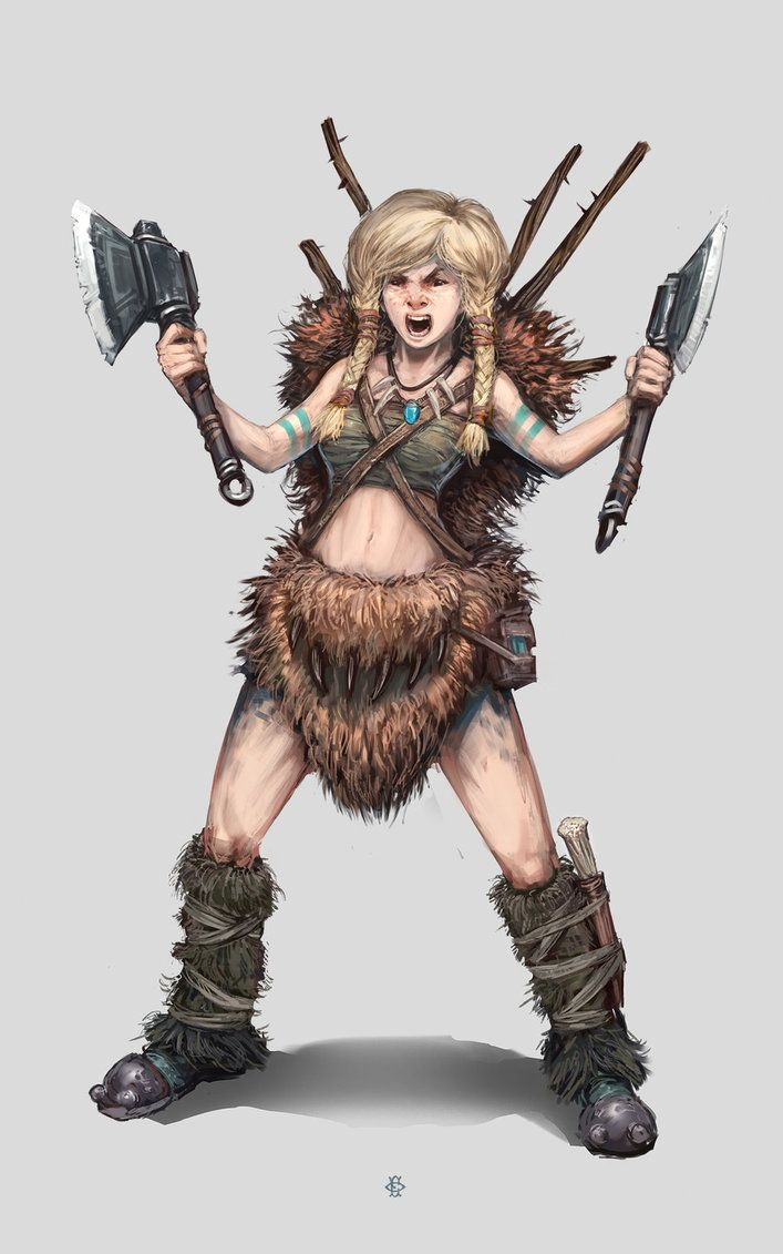 Dungeons & Dragons clipart barbarian female Find images on Gnomes Gnomes