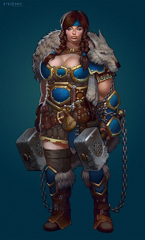 Dungeons & Dragons clipart barbarian female Female Pinterest on Dungeons Dragons