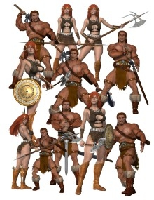 Dungeons & Dragons clipart barbarian female Barbarian Character Bin Clipart Clipart