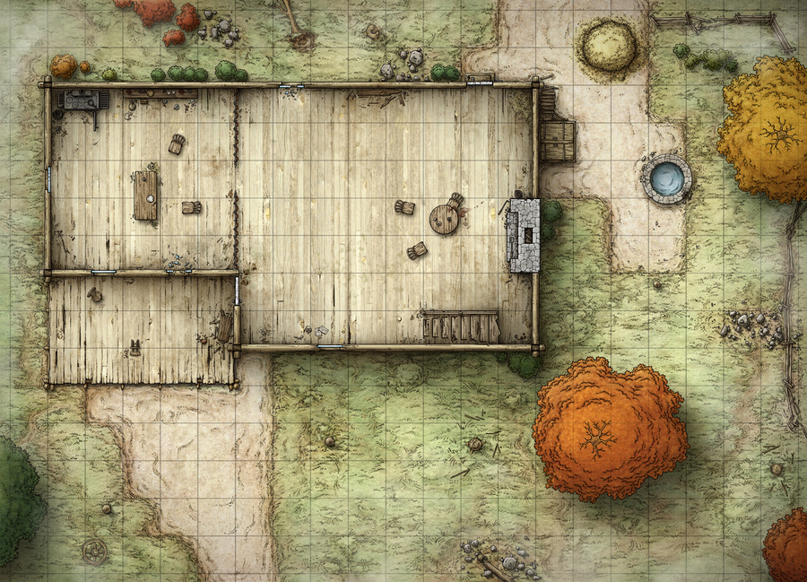 Dungeons & Dragons clipart farm map 186 maps Buildings Maps (168)