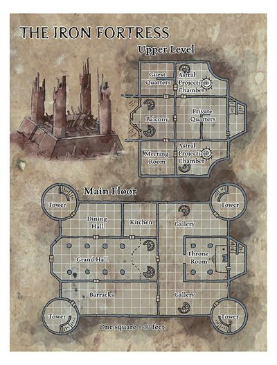 Dungeons & Dragons clipart fortress #2