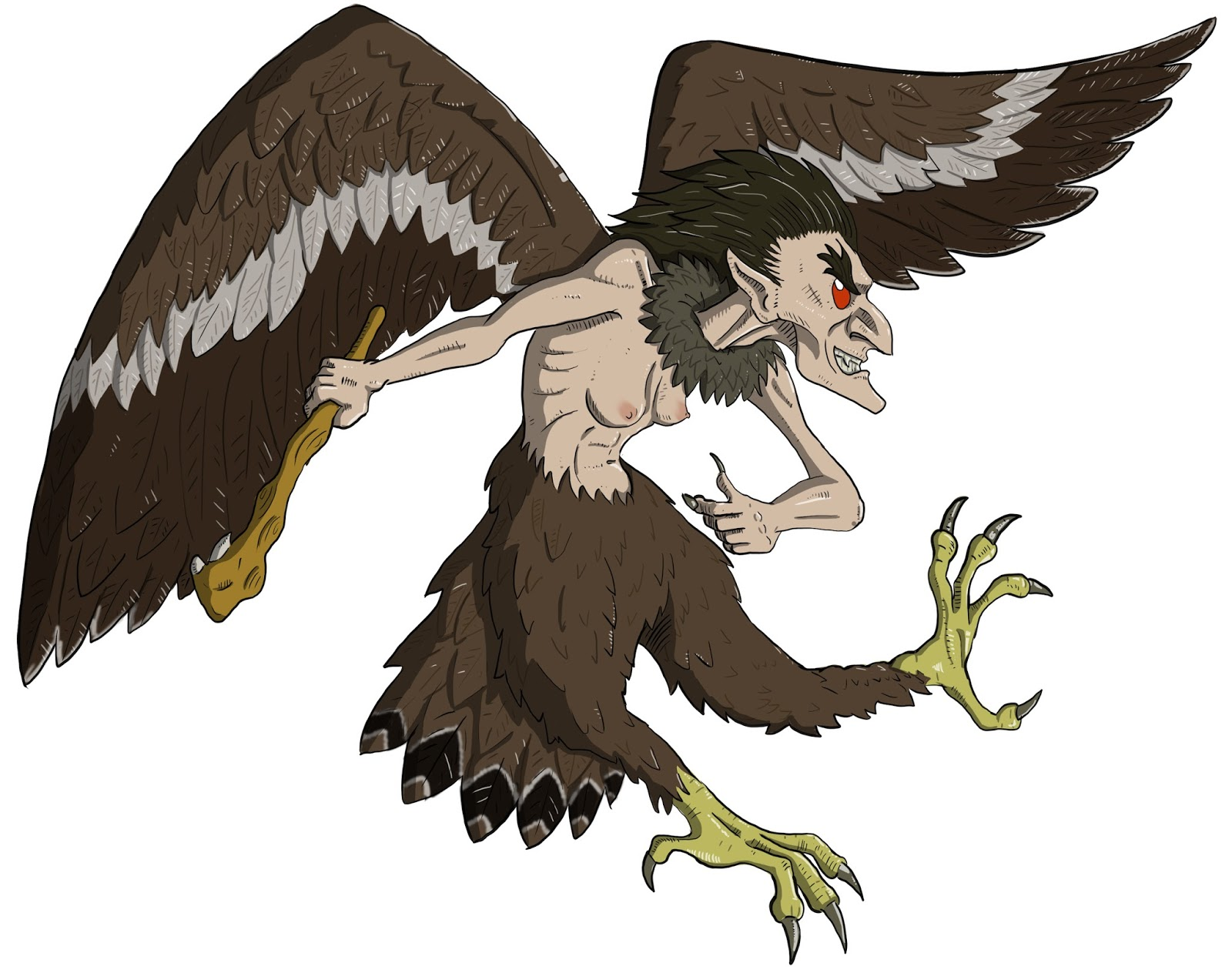 Dungeons & Dragons clipart harpy  Basic D&D Harpy Monsters: