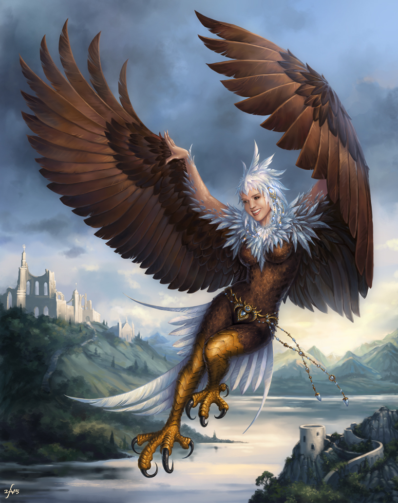 Dungeons & Dragons clipart harpy By woman Flying mountains creature
