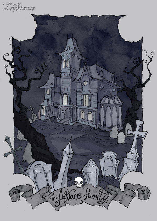 Dungeons & Dragons clipart mansion Architecture cemetary by Addams environment