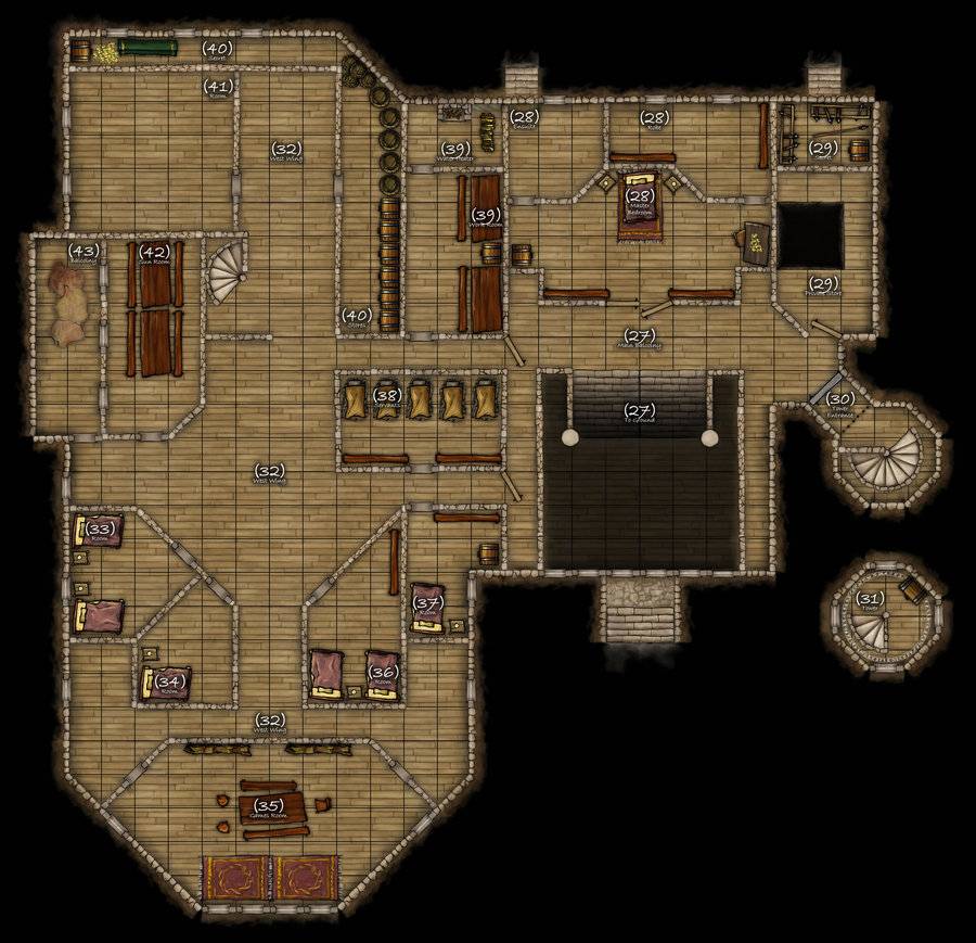 Dungeons & Dragons clipart mansion Com map map DND r3v3r53d