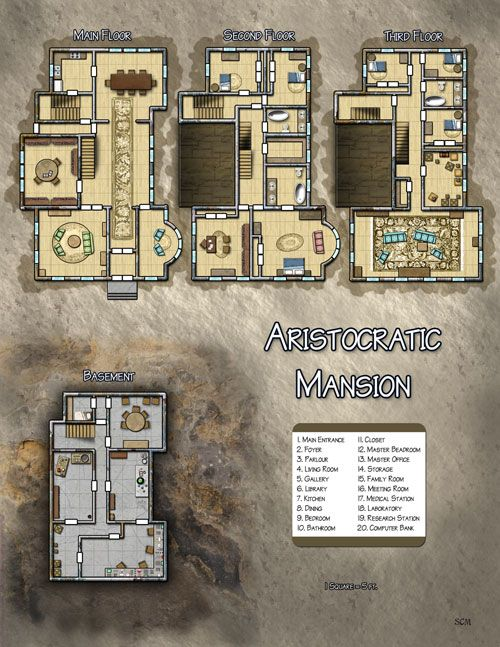 Dungeons & Dragons clipart mansion And and D&D Maps this