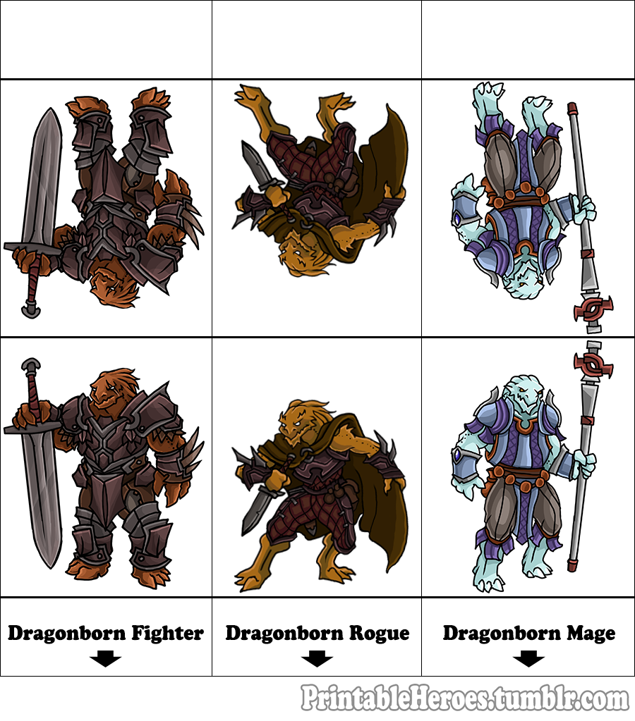 Dungeons & Dragons clipart rogue Full Here's set Printable Warrior