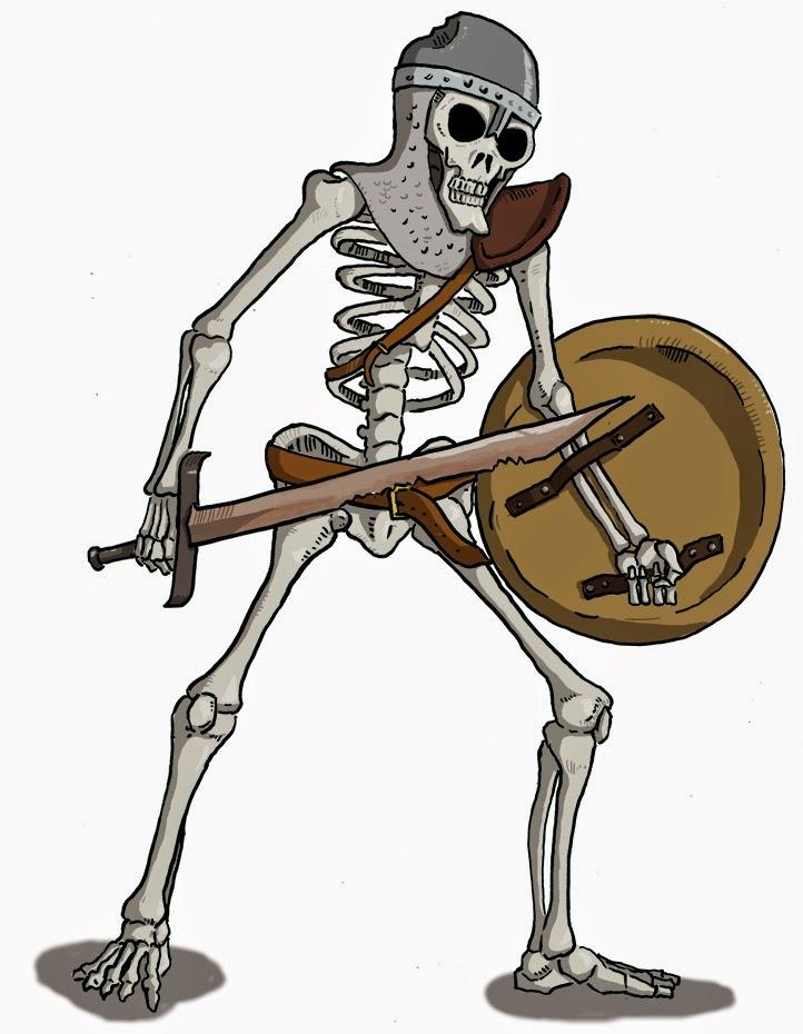 Dungeons & Dragons clipart skeleton  Monsters: Basic D&D Skeleton