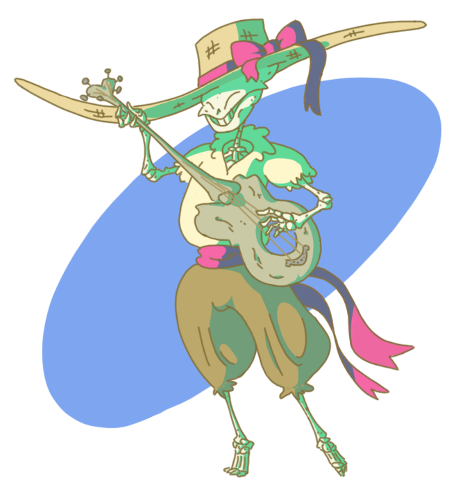 Sleleton clipart dungeons and dragon Your a consideration bard DnD