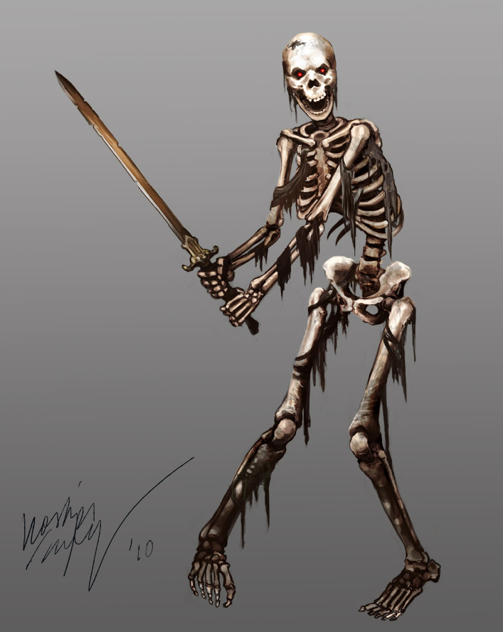 Dungeons & Dragons clipart skeleton On Warrior on com Odinoir