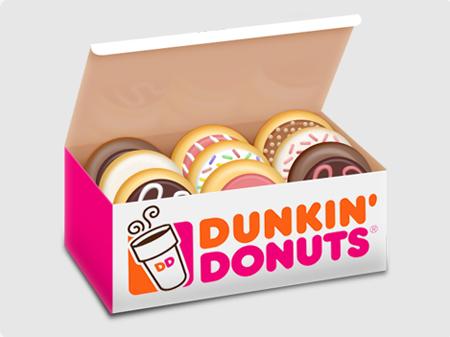 Dunkin Donuts clipart Gclipart – Doughnut clip com