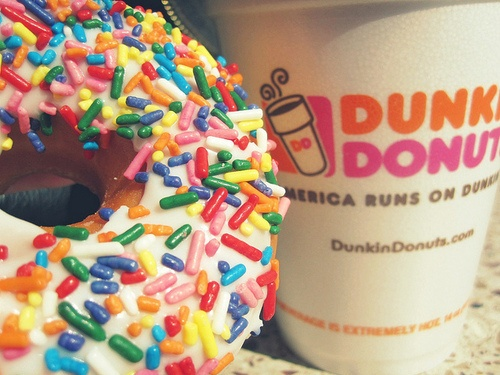 Dunkin Donuts clipart sweet food Dunkin sprinkle coffee donut light