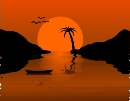 Dusk clipart evening time Sunset arts 80 clip 1)