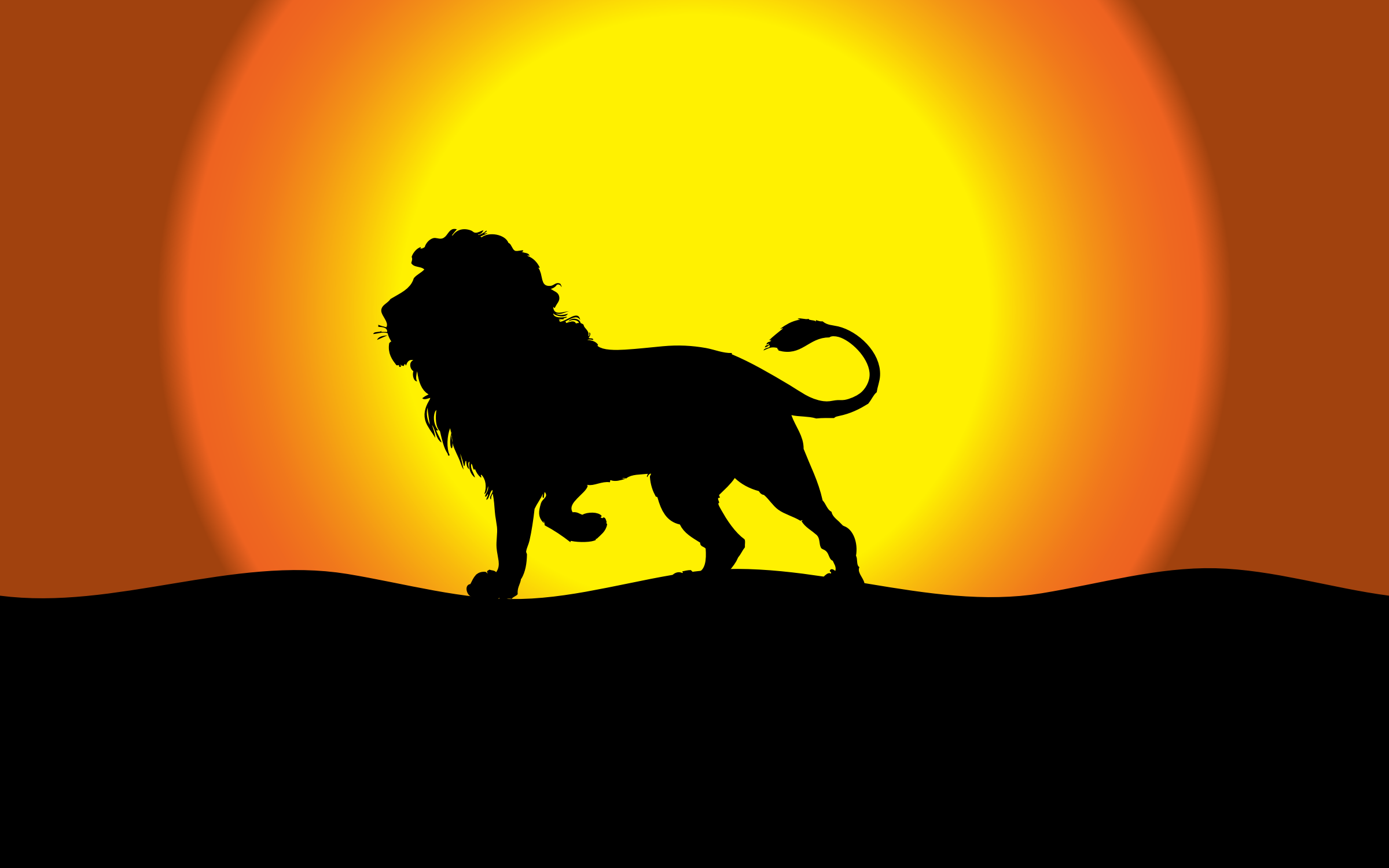 Dusk clipart evening time Dusk Clipart Dusk Silhouette Lion