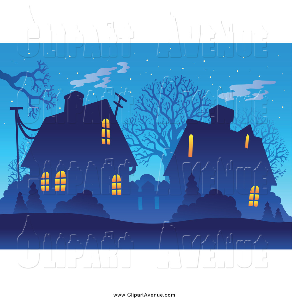 Dusk clipart evening time Winter Stock Night Bare Designs