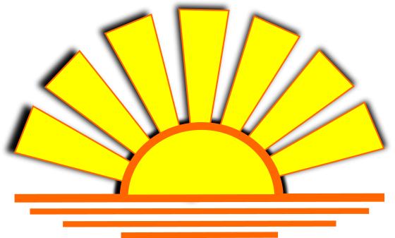 Dusk clipart half sun Setting Clipart com Vector Sun