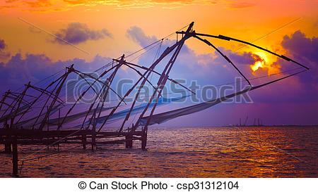 Dusk clipart kerala Sunset Chinese on Kerala Kochi