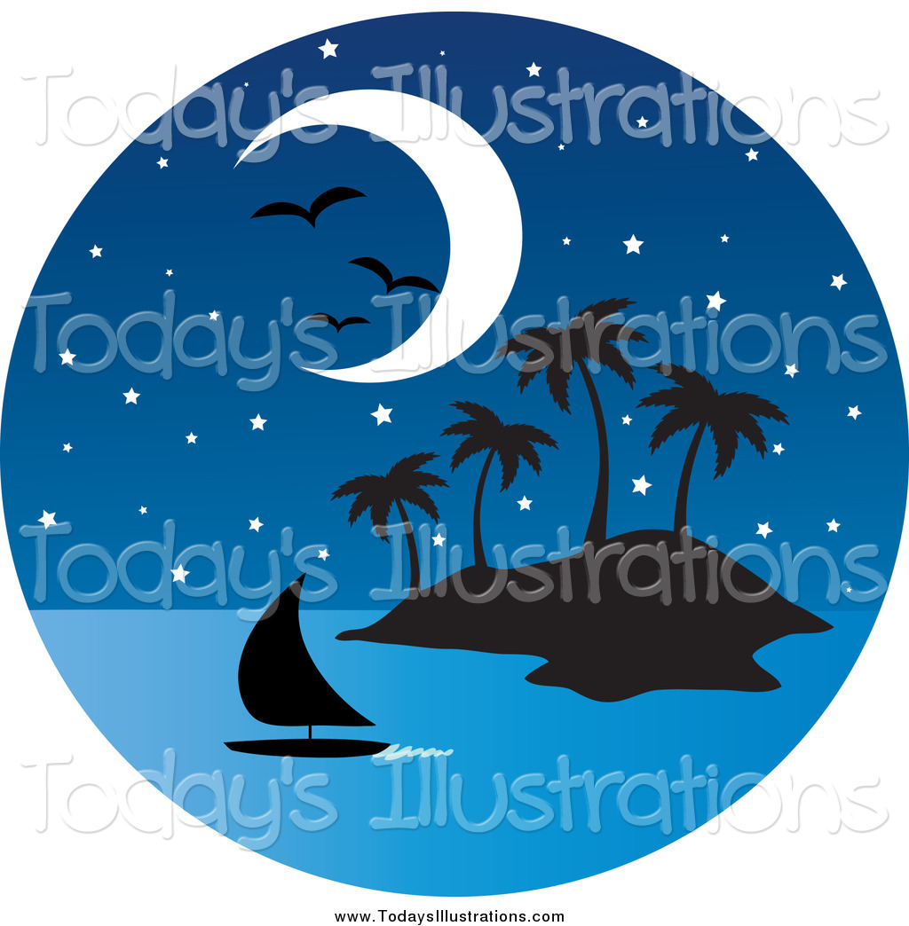 Scenic clipart tropical island #9