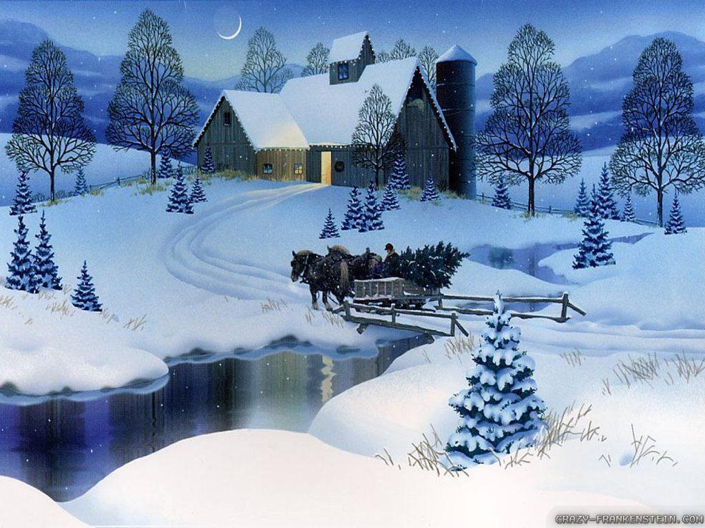 Dusk clipart vacation Scene Nightscene At winter Clip