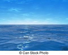 Dusk clipart vacation Ocean the illustration ocean 3d