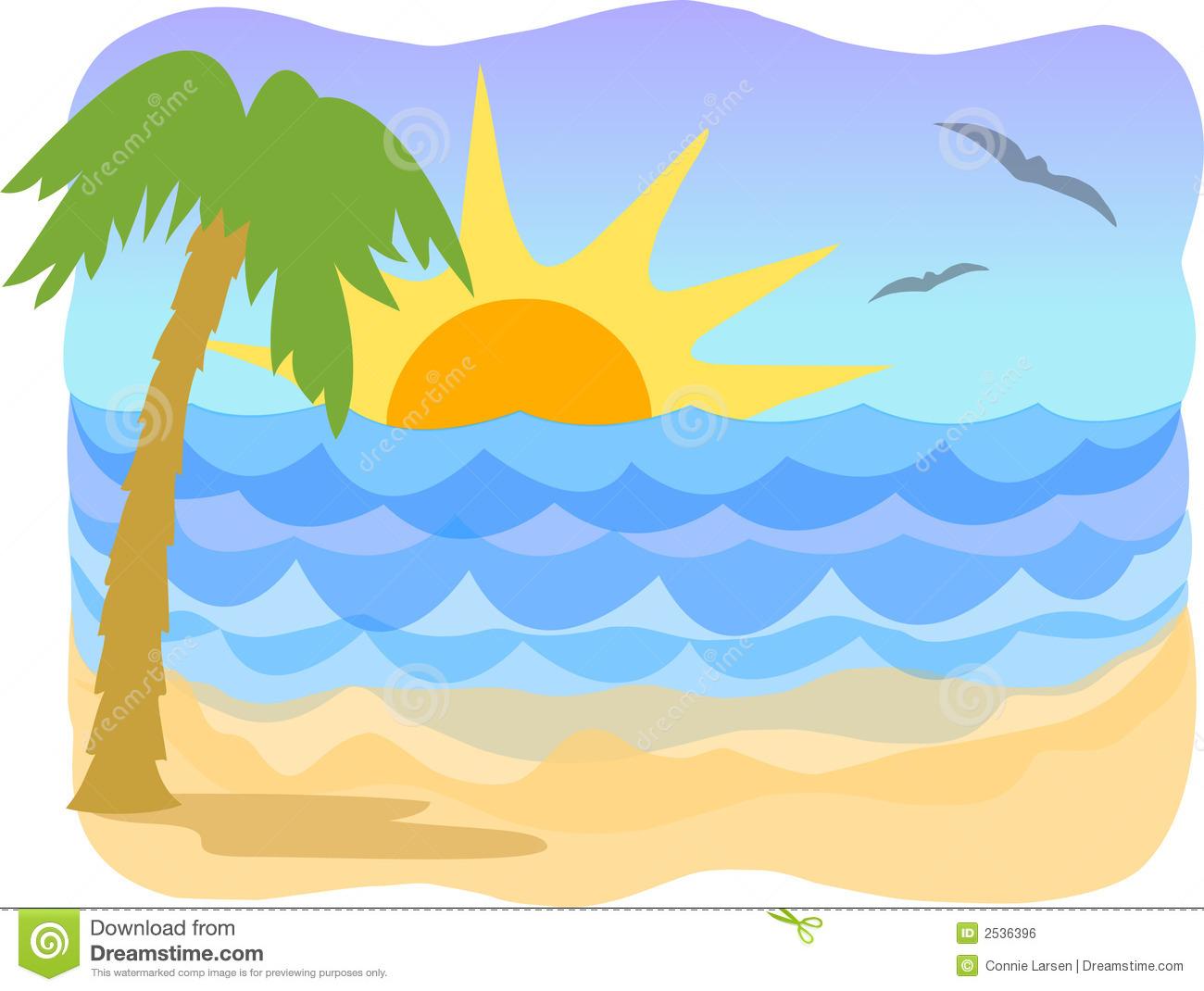 Wallpaper clipart tropical Ocean – Sunrise Clip Art