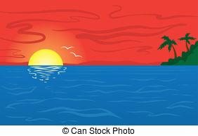 Ocean clipart ocean sunset Red ocean Sunset Sunset An