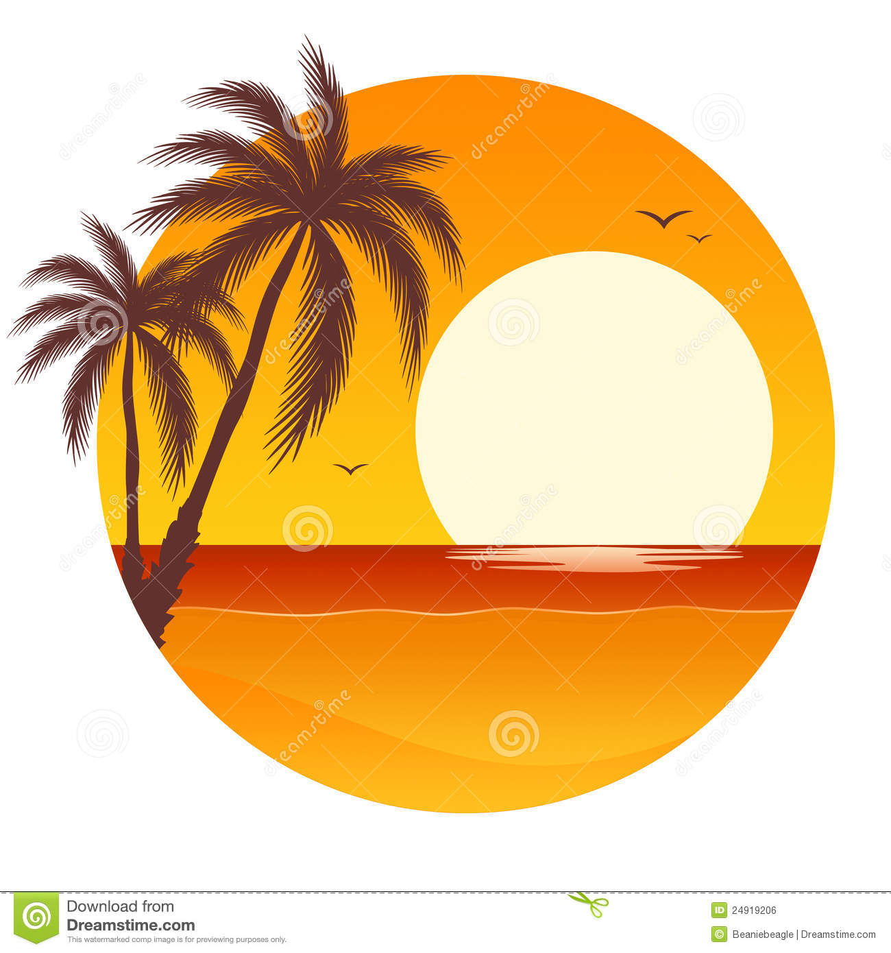 Yellow clipart palm tree Ocean%20sunset%20clipart Ocean Clipart Panda Images