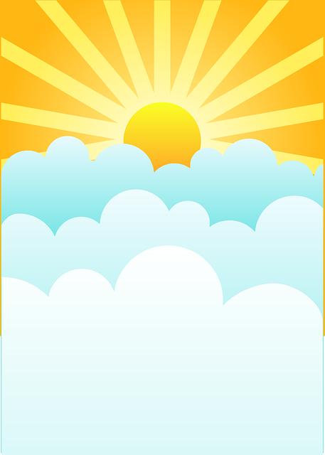Scenery clipart sun sky #3